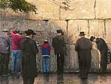 Thomas Kinkade The Wailing Wall Jerusalem painting