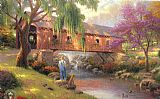 Thomas Kinkade The old fishing hole painting