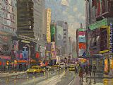 Thomas Kinkade Time Square painting