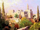 Thomas Kinkade Tower of David painting