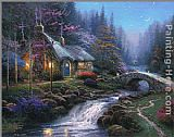 Thomas Kinkade Twilight Cottage painting