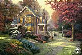 Garden paintings - Victorian Autumn by Thomas Kinkade
