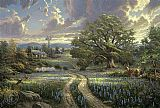 Thomas Kinkade country living painting
