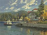 Thomas Kinkade lake_arrowhead painting