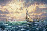 Thomas Kinkade New Horizons painting