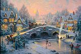 Thomas Kinkade spirit of xmas painting