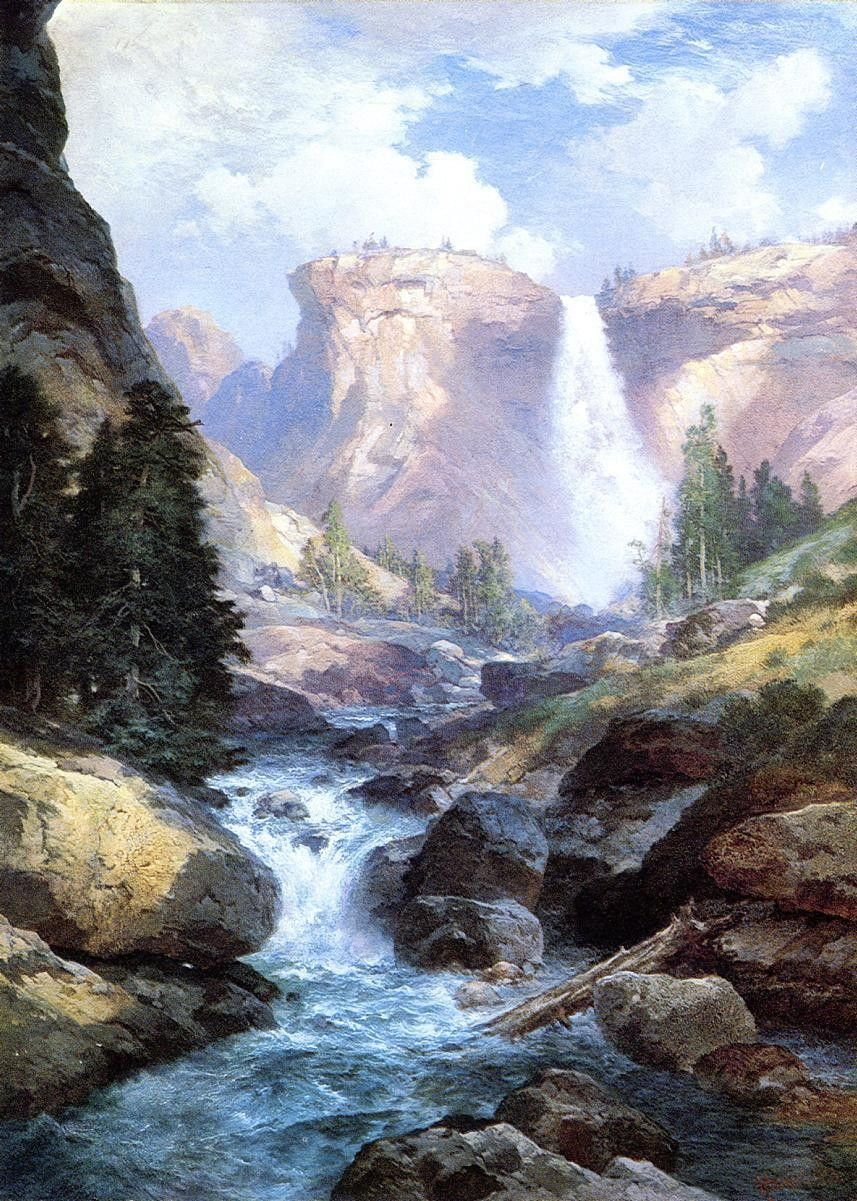 Thomas Moran Waterfall in Yosemite