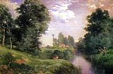 Thomas Moran A Long Island River painting