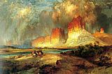 Thomas Moran Cliffs of the Upper Colorado river painting