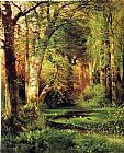 Landscape paintings - Forest Scene by Thomas Moran