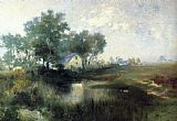Thomas Moran Misty Morning, Appaquogue painting