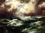 Thomas Moran Moonlit Seascape painting