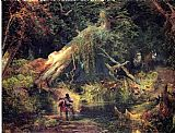 Thomas Moran Slave Hunt, Dismal Swamp, Virginia painting