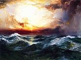 Thomas Moran Sunset after a Storm painting