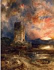 Thomas Moran Sunset on the Moor painting