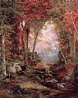 Thomas Moran The Autumnal Woods Under the Trees painting