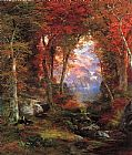 Thomas Moran The Autumnal Woods painting