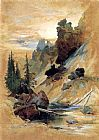 Thomas Moran The Devil's Den on Cascade Creek painting