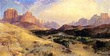 Thomas Moran Zion Valley, South Utah painting