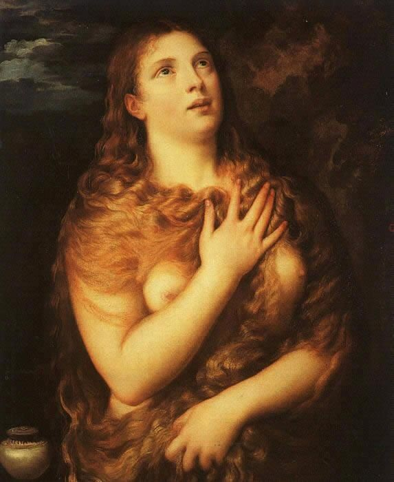 Unknown Saint Mary Magdalene By Titian