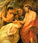 Mary Magdalene paintings - Christ and Mary Magdalene by Rubens by Unknown