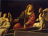 Mary Magdalene paintings - Mary Magdalene at the Tomb by Unknown