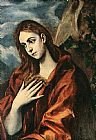 Mary Magdalene paintings - Penance of Mary Magdalene By El Greco by Unknown