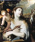 Mary Magdalene paintings - Penitent Magdalene By Joseph Heintz by Unknown