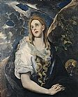 Mary Magdalene paintings - Saint Mary Magdalene By El Greco by Unknown