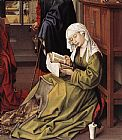 Mary Magdalene paintings - The Magdalen Reading By Weyden Rogierc by Unknown