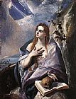 Mary Magdalene paintings - The Magdalene By El Greco by Unknown
