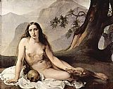 Mary Magdalene paintings - The penitent Mary Magdalene by Francesco Hayez by Unknown