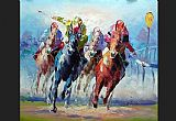 Horse Racing paintings - hosr12 by Unknown