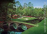 Unknown 12th-hole-augusta-golden-bell painting
