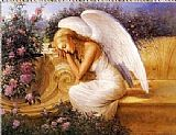 Unknown Angel at Rest by Tadiello painting
