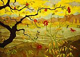 pear tree Paintings - Apple Tree with Red Fruit by paul ranson
