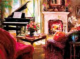 Piano paintings - At Peace by Unknown