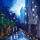 Unknown BLUE RAIN painting