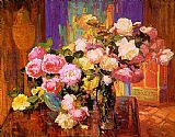 Unknown Bischoff roses painting
