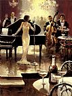 starry night over the rhone Paintings - Brent Heighton Jazz Night Out