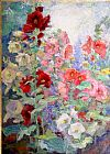 Unknown Campbell Hollyhocks painting
