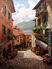 Unknown Lake Como Italian Village by Paul Guy Gantner painting