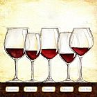 Wine paintings - Les Vins Rouges by Unknown