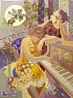 Piano paintings - Long Time Ago by Unknown
