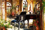 Piano paintings - Minuet In D Minor by Unknown