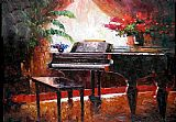 Piano paintings - Muzi003 by Unknown