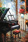 Piano paintings - Muzi009 by Unknown