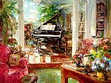 Piano paintings - My Piano by Unknown