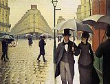Gustave Caillebotte Paris Street Rainy Weather painting