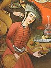 Unknown Persian woman pouring wine painting